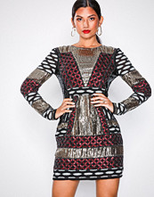NLY Eve Multicolor Beaded Pattern Dress