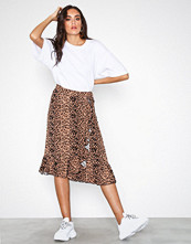 Vero Moda Leopard Vmleo N/W Wrap Skirt Exp