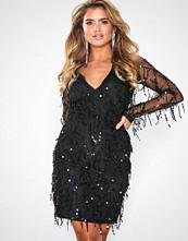 NLY Eve Svart Sequin Fringe Dress