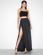 NLY One Double Split Lurex Skirt