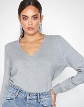 Only onlLESLY V-Neck Pullover Ex Knt Lys grå