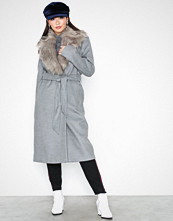 River Island Grey Robe Coat