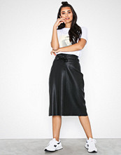 NORR Lenna leather skirt