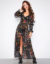 For Love & Lemons Elyse Ruffled Maxi Dress