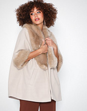 River Island Fur Collar Swing Coat