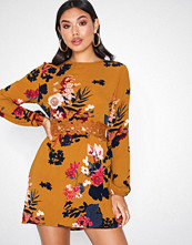 Ax Paris Long Sleeve Floral Dress