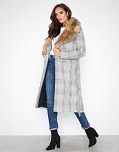 River Island Mongolian Fur Check Robe