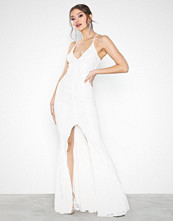 Missguided Lace Strappy Front Split Maxi