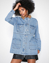 Missguided Collar Utility Denim Jacket