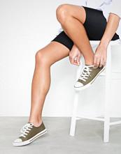 New Look Canvas Stripe Sole Trainers Khaki