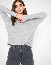 New Look Knit Gold Sequin Boxy Top