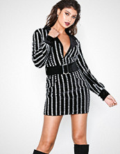 Missguided Embellished Belted Dress