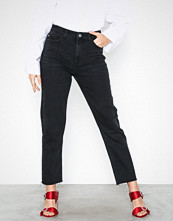 Only onlEMILY Hw St Raw Jeans Black Mae