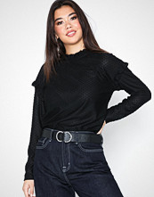 Jacqueline de Yong Jdyrositta L/S Frill Top Jrs
