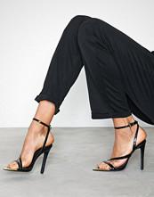 Missguided Metal Toe Cap Asymmetric Heeled Sandal