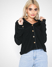 Only onlNADINE L/S Button Top Wvn