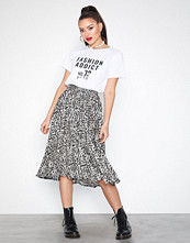 Missguided Pleated Irregular Print Skirt