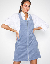 New Look Corduroy Zip Through Pinafore Dress