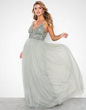 Maya Cami Plunge Delicate Sequin Maxi Dress