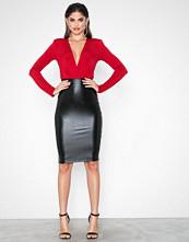 NLY One Leatherlook Midi Skirt
