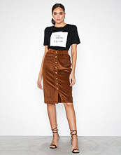New Look Cord Button Through Pencil Skirt