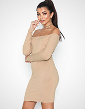 NLY One Off Shoulder Rib Dress