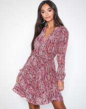 Glamorous Long Sleeve Flounce Snakeskin Dress