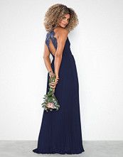 NLY Eve Pleated Lace Gown Navy