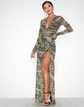 NLY One Mesh High Slit Dress Snake