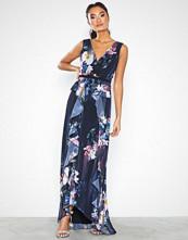 Little Mistress Viola Floral Plunge Maxi Dress