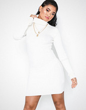 Missguided Roll Neck Ribbed Knitted Mini Dress