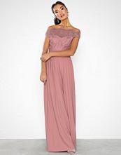 Little Mistress Gaby Lace Bardot Maxi Dress