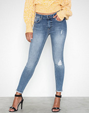 Only onlBLUSH Mid Sk Ank Raw Jeans REA33
