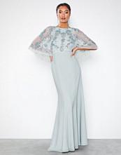 Maya Embellished Cape Detail Maxi Dress Fishtail