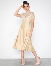 Little Mistress Lizzy Crochet Lace Midi Dress