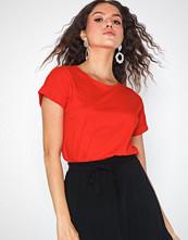 Jacqueline de Yong Jdylouisa S/S Fold Up Top Jrs Noos Mørk Rød