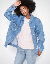 Missguided Oversized Boyfriend Fit Denim Jacket
