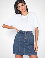 Jacqueline de Yong Jdylola Button Skirt M Blue Dnm