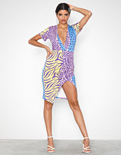 Ivyrevel Deep V-Neck Midi Slit Dress