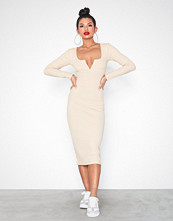 NLY Trend V Bar Rib Midi Dress