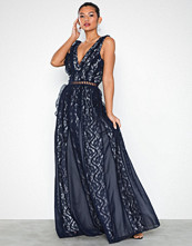 U Collection Lace Flounce Maxi Dress