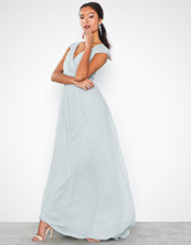 NLY Eve Cap Sleeve Maxi Gown Sage