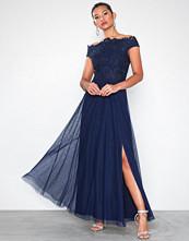 Little Mistress Lizzy Lace Bardot Maxi Dress