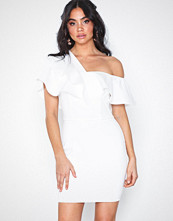 Rare London One Shoulder Frill Mini Dress