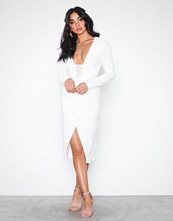 Rare London Bodycon Wrap Plunge Dress