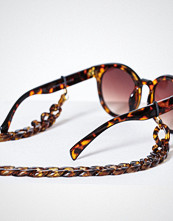 Pieces Pccarrie Sunglass Chain Mørk brun