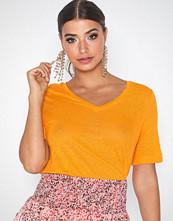 Selected Femme Slfstandard Ss Linen V-Neck Tee W