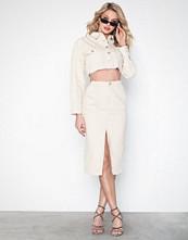 Missguided Front Split Denim Midi Skirt