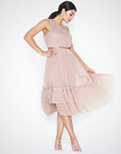 Anaya Gathered Tulle Midi Dress