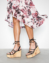NLY Shoes Lace Up Wedge Heel